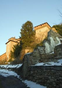 Il castello di Silvano d'Orba, al tramonto.