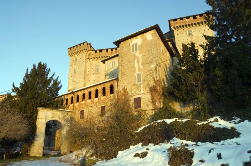 ''Il castello di Silvano d'Orba, innevato.'' - Silvano d'Orba