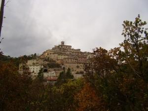 Palazzo di Arcevia in una giornata invernale