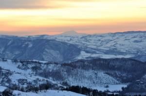 I colori del Tramonto sulla neve