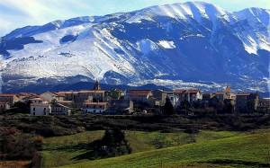Alle spalle del monte Morrone
