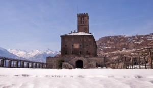 Castello Reale di Sarre, vista cortile