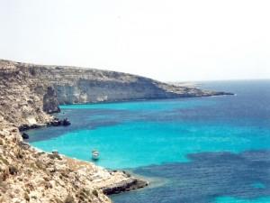Nel blu di Lampedusa