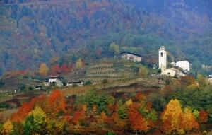 Castione con la chiesa di San Rocco