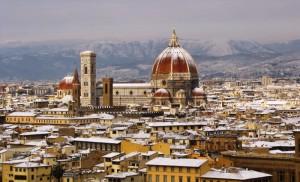 dal Piazzale Michelangelo dopo la nevicata