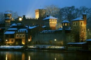 Verso sera al castello