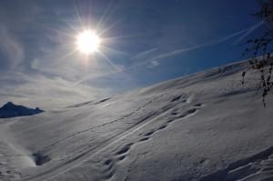 Verso l'Alpe Chaligne