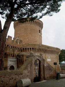 Particolare della Torre del Castello di Giulio II Ostia Antica