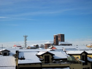 Neve per Sant Agata Patrona di Santhia'