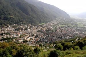 Panoramica di Chiavenna e della valle