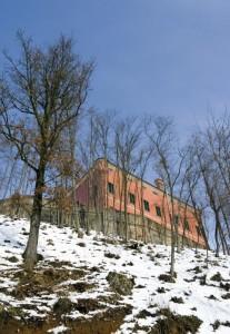 Il castello di Pasturana, dal parco.
