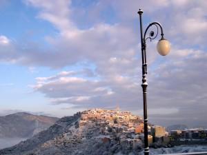 riflessi di neve sotto il nostro lampione