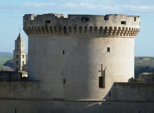 Il campanile del duomo ed il mastio del castello