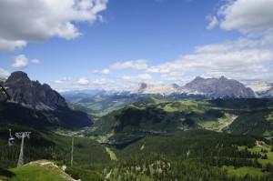 Panorama della Val Badia.
