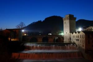 Torre Medioevale e Ponte Romano in blu