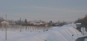 Neve sugli argini del Po