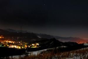 Panorama Arquata notte