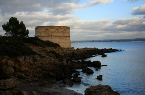 Alghero - la torre sulla scogliera..