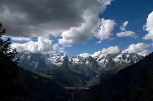 Massiccio del Monte Bianco dal Colle San Carlo