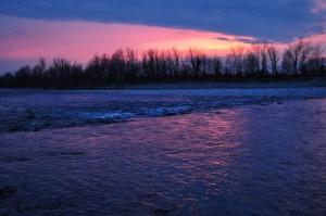 Il tramonto sul Brenta a Nove
