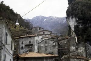Panorama del paese di Equi Terme