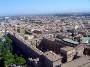 Roma,  Giardini Vaticani dal cupolone