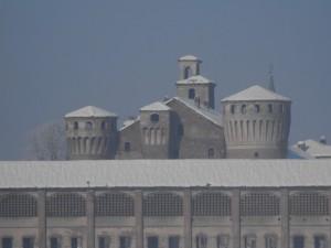 Castello di Valeggio dopo la nevicata