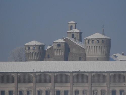 Valeggio - Castello di Valeggio dopo la nevicata