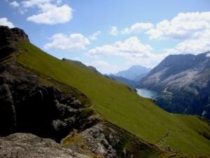 Canazei, il lago di Fedaia in lontananza
