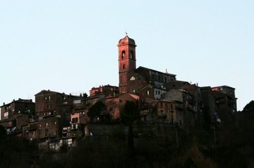 Morlupo - Il campanile...ed il sole della sera..