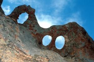 Sculture naturali nella roccia