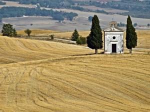 La chiesetta di Pienza