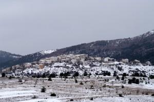 Castelvecchio sotto alla neve