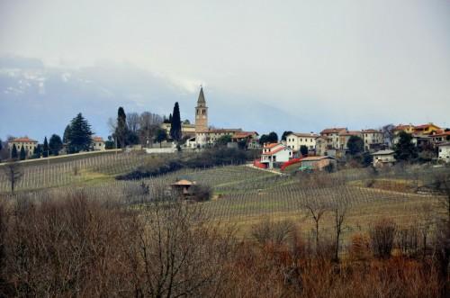 San Pietro di Feletto - poco più in alto nevica