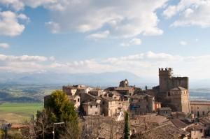 Uno splendido borgo sulla valle del Tevere
