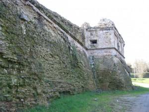 Mura nord del cassero.