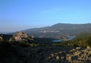 Pennadomo; Vista sul Lago di Bomba