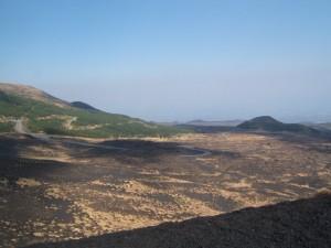 Paesaggio lunare sull'Etna