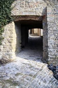 La porta d'ingresso al Castello della Pieve