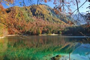 I caldi colori autunnali di Fusine