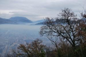 Panorama di Cassino in trasparenza