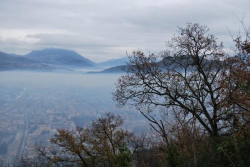 Cassino - Panorama di Cassino in trasparenza