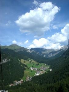 panorama di Campitello e Canazei, Val di Fassa