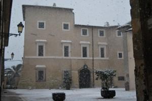 finalmente oggi la neve a roma