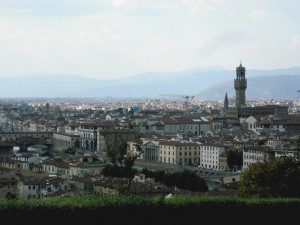 Firenze - la panorama dal Piazzale Michelangelo