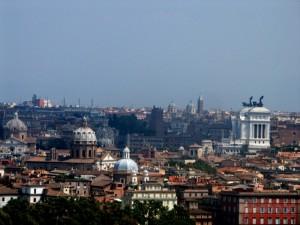 panorama di Roma dalla Piazza Garibaldi
