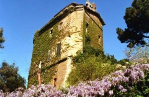 la torre di Pratica di Mare avvinta dalla primavera