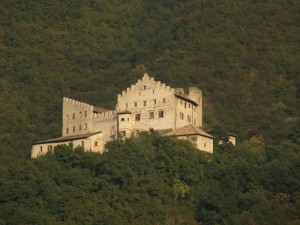 Castel Monreale avvolto dal bosco