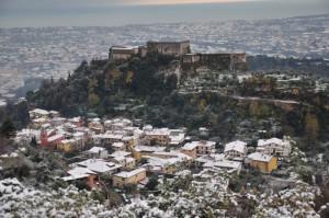 castello con la neve