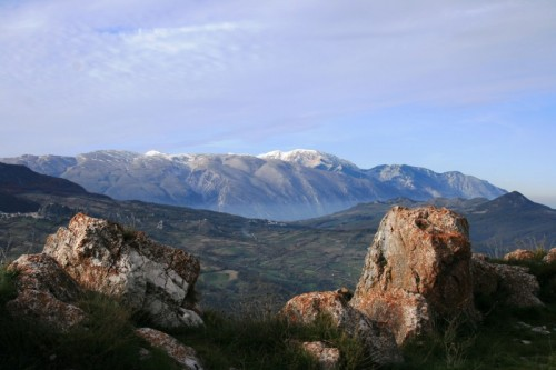 Pescopennataro - La Majella, vista da Pescopennataro